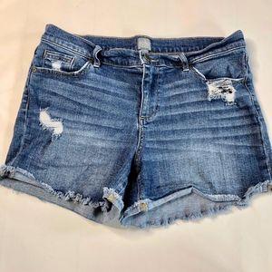 NY & Co Soho Cutoff Distressed Jeans Shorts